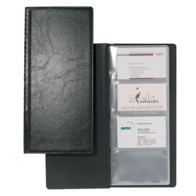 Визитница VISIFIX на 128 визиток, пластиковая обложка, размер 25,3х11,5 см, черная