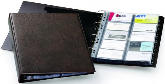 Визитница Durable VISIFIX 400 шт коричневый 2384-11