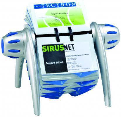 Визитница Durable VISIFIX FLIP 400 шт серебристый 2417-23