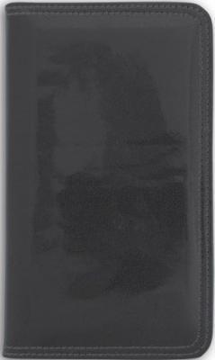 Визитница настольная, блок 96 визиток, 237х125 мм, кожзам, черная ICC96/1/BK