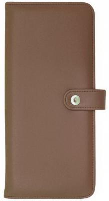 Визитница Index ICC128/5B/BR 128 шт коричневый
