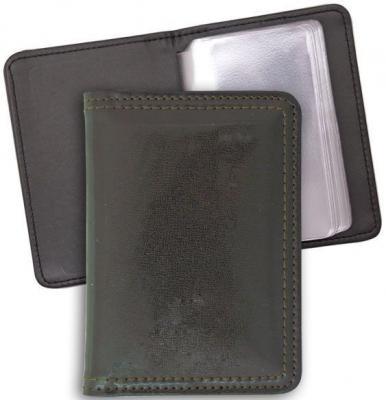 Визитница карманная, блок 20 визиток, 120х85 мм, кожзам, коричневая ICC20/1/BR