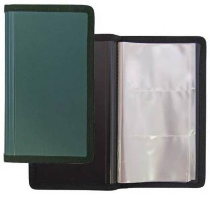 Визитница Index ICH04/GN 144 шт зеленый