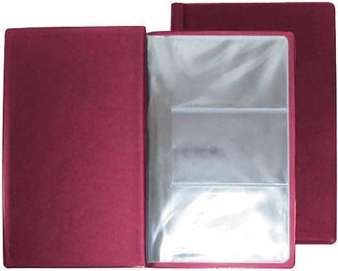Визитница Panta Plast PVC 03-0210-2/Борд 60 шт бордовый