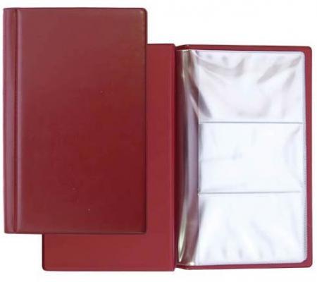 Визитница Panta Plast 03-0220-2/Борд 60 шт бордовый