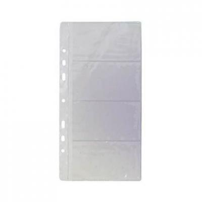 Блок для визитницы на кольцах, лист на 8 визиток/ для арт.03-2821-2 06-1110-2 механизм сливной alca plast a08