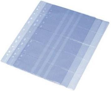 Блок для визитницы Panta Plast 06-4022-2 / 05-4020-2 20 шт прозрачный