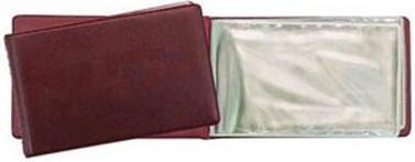 Визитница Panta Plast PVC 03-0730-2/Борд 24 шт бордовый