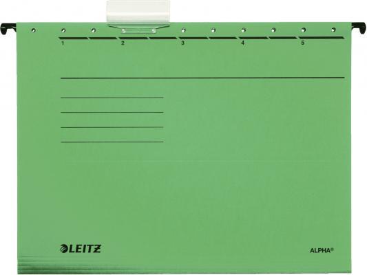Подвесные папки Leitz ALPHA Стандарт, А4, зеленый, упк/25шт, цена за 1 штуку 19850055