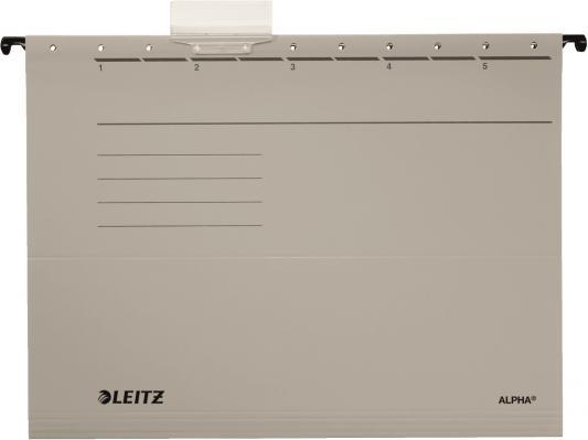 Подвесные папки Leitz ALPHA Стандарт, А4, серый, упк/25шт, цена за 1 штуку 19850085