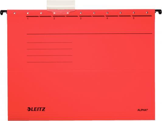 Подвесные папки Leitz ALPHA Стандарт, А4, красный, упк/25шт, цена за 1 штуку 19850025
