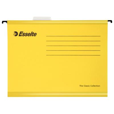 Подвесная папка ESSELTE PENDAFLEX ECO, ф.А4, 25 шт, желтый, цена за 1шт 90314 папка уголок esselte 150 мкм глянцевые синие цена за штуку