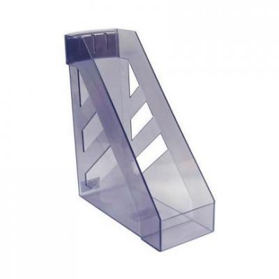 Лоток для бумаг СТАММ УЛЬТРА, вертикальный, тонированный, серый ЛТ06