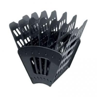 Лоток для бумаг, вертикально-горизонтальный, семисекционный, черный Лт-41 лоток для бумаг sponsor вертикально горизонтальный семисекционный черный st905 7
