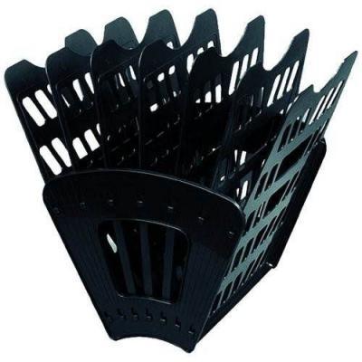 Фото - Лоток для бумаг, вертикально-горизонтальный, шестисекционный, черный Лт-96 лоток для бумаг горизонтальный черный лт152