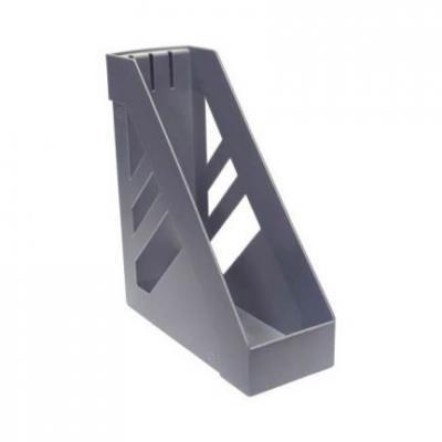 Лоток для бумаг СТАММ УЛЬТРА, вертикальный, сер.металлик ЛТ03