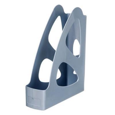 Лоток для бумаг ПАРУС, вертикальный, серый метал., 8 см. ЛТ133