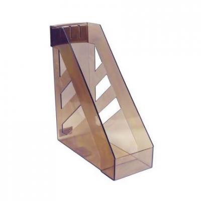Лоток для бумаг СТАММ УЛЬТРА, вертикальный, тонированный, коричневый ЛТ20