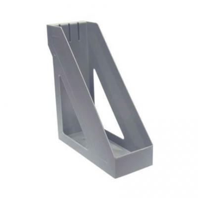 Лоток для бумаг БАЗИС, вертикальный , сер.металлик ЛТ33