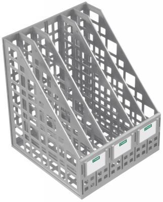 Лоток для бумаг, вертикальный, сборный, 5 отделений, серый ЛТ84