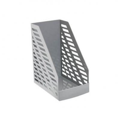Лоток для бумаг STAMM, вертикальный , 16см., серый ЛТ900
