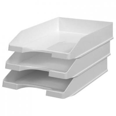 Лоток для бумаг СТАНДАРТ, горизонтальный, серый ЛТ21