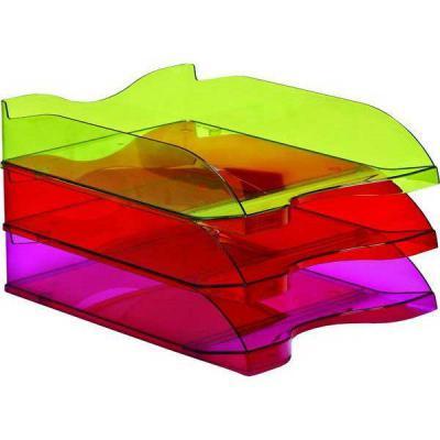 Лоток для бумаг СТАММ ЛЮКС, горизонтальный, тонированный /Лайм/ ЛТ610
