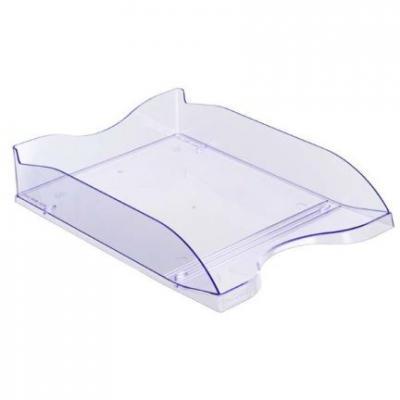 Лоток для бумаг СТАММ ЛЮКС, тонированный, голубой ЛТ63