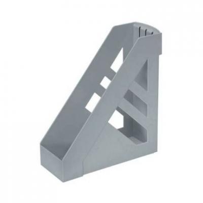 Лоток для бумаг, вертикальный, сборный, серый ЛТ11