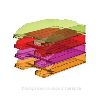 """Лоток для бумаг ЭКСПЕРТ, горизонтальный, тонированный """"Манго"""" ЛТ209"""