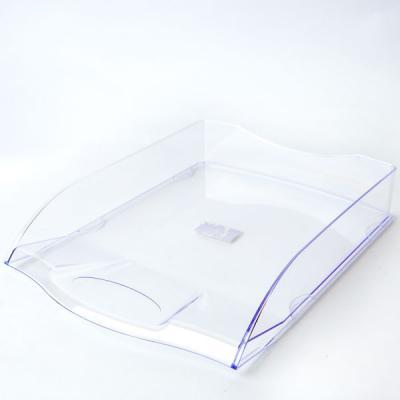 Лоток для бумаг горизонтальный ПРЕМИУМ, прозрачный IT806Tr