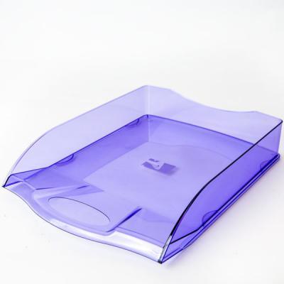Лоток для бумаг горизонтальный ПРЕМИУМ, синий IT806Bu