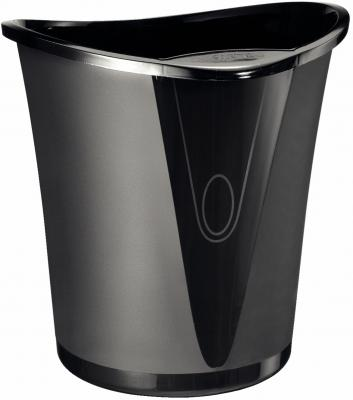 Корзина для бумаг Leitz Allura 18 черная 52040095