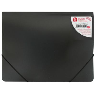 Папка на резинках, ф.А4, чёрная, 0,4мм SF311/BK/SPEC-1
