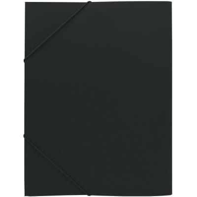 Папка на резинках, ф.A4, черная SF311/BK