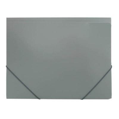 Папка на резинках, ф.А4, серая, 0,4мм SF311/GR/SPEC-1