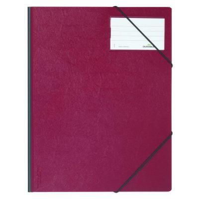 Папка на резинках из прочного пластика, ф.А4, на 150 листов, с инфо-окном 57х90 мм, красная 153463