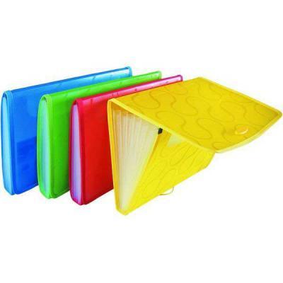 Папка на резинке OMEGA с 6 отделениями, ф. А4, цвет желтый, материал полипропилен, плотность 450 мкр 0410-0041-06