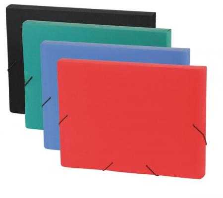 Папка на резинках FOCUS, ф.A4, 30 мм, красный, материал PP, плотность 600 мкр 0410-0059-05