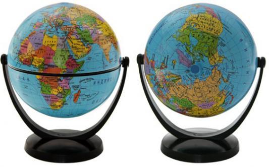 Глобус политический, 10.6 см, с экваториальным креплением, в блистерной упаковке RG106/POL/EF