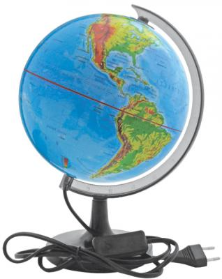 Глобус c двойной картой, политической и физической, с подсветкой, 20см RG20/DB/L цена 2017