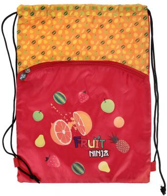 Action! Мешок для обуви FRUIT NINJA, разм. 43х32 см, с доп. карманом на молнии, оранжевый FN-ASS4306/2