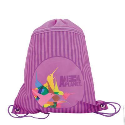 Мешок для обуви ANIMAL PLANET Колибри , разм.41 x 33 см, с доп.карманом на молнии, для девочек AP-ASS4305/1/15