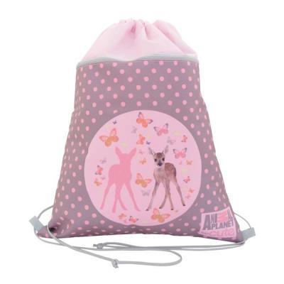 Мешок для обуви ANIMAL PLANET too cute, с доп. карманом на молнии, размер 38 х 33см, розовый AP-ASS4305/4/15