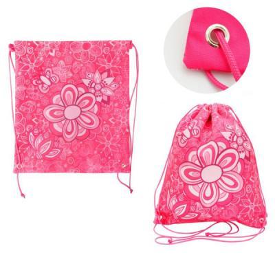 Мешок для обуви ACTION by TIGER, Цветы, разм.37 х 33 см, розовый, для девочек 21012/A/2G цена