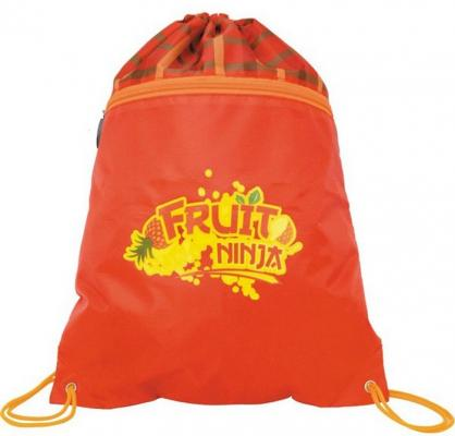 Action! Мешок ддя обуви FRUIT NINJA, разм. 43х32 см, с карманом на молнии,красно- оранжевый, для девочек FN-ASS4305/5