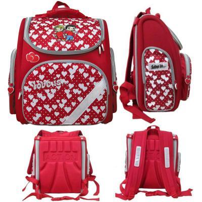 Ранец с рельефной спинкой Action! LOVE IS красный LI-ASB9000/2