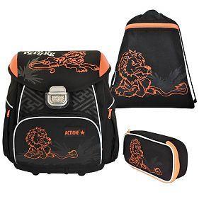 Ранец Action! ASB4005/2 SET черный оранжевый в ассортименте ASB4005/2 SET