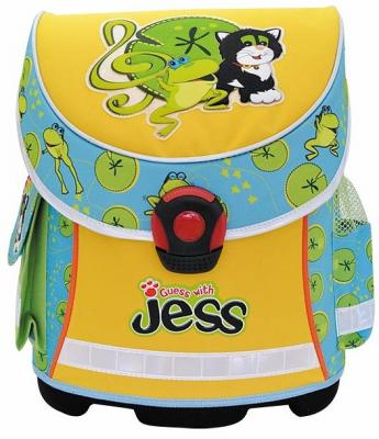 Купить Ранец с анатомической спинкой Action! GUESS with JESS голубой желтый GJ-ASB4003/1 GJ-ASB4003/1, голубой, желтый, ткань, Школьные ранцы