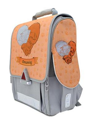 Ранец с анатомической спинкой Action! 21009/A/1G серый оранжевый  21009/A/1G